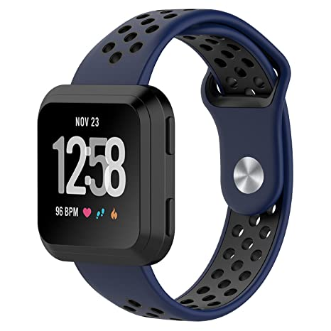 Runtenic Bracelet pour Fitbit Versa, Édition Spéciale Bracelet Bande de Silicone Remplacement Ajustable pour Fitbit