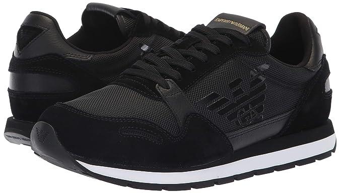 Amazon.com | Emporio Armani Mens Lace Up Logo Fashion Sneaker | Fashion Sneakers