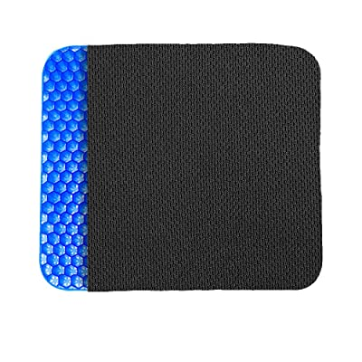 POVAST Gel Seat Cushion, Seating Pad Double Layer Honeycomb Cushion for Car Driver Home Office Chair Wheel Chair Truck Butt Hip Support Sitting Pillow, Tailbone Sciatic Nerve Spine Pain Relief (Navy): Automotive