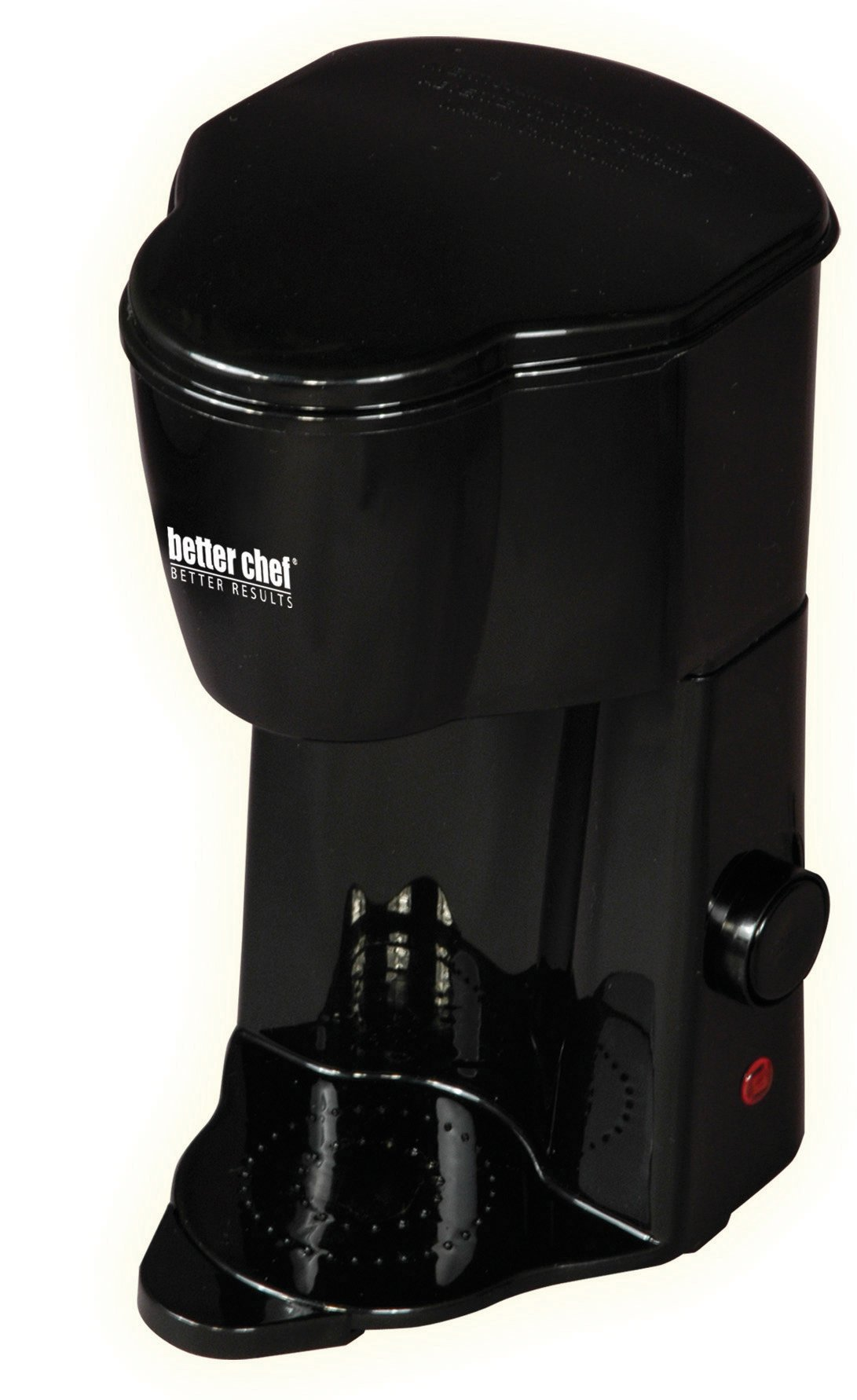 Better Chef IM-102B Compact Personal Coffee Maker | Brews up to 12 oz. | Compact Size | Use Grounds or Coffee Pods