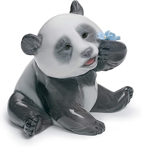 LLADR A Happy Panda Figurine. Porcelain Panda Figure.