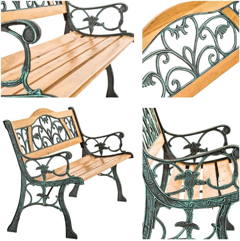 "/""Micha/"" 119,5 x 62 x 83cm | Nr. 401425 Diverse Modelle TecTake Gartenbank Parkbank Holz"