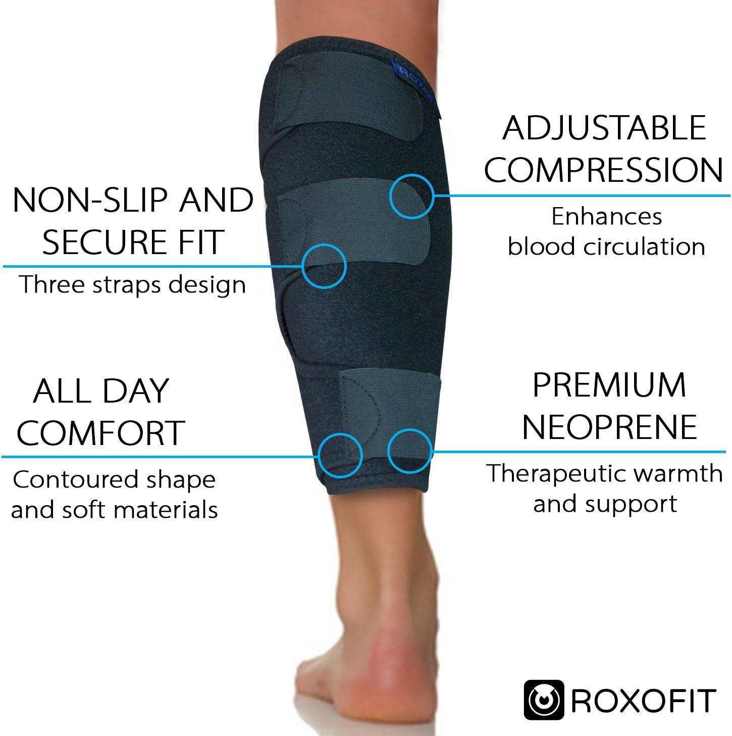 Vițel de compresie mâneci picior de compresie Șosete Shin Atelă Vițel Durere Relief Sport