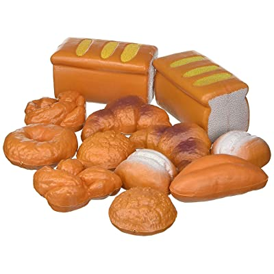 Liberty Imports Life Sized 12 Piece Bread Set Pretend Play Toy Food Playset for Kids: Toys & Games