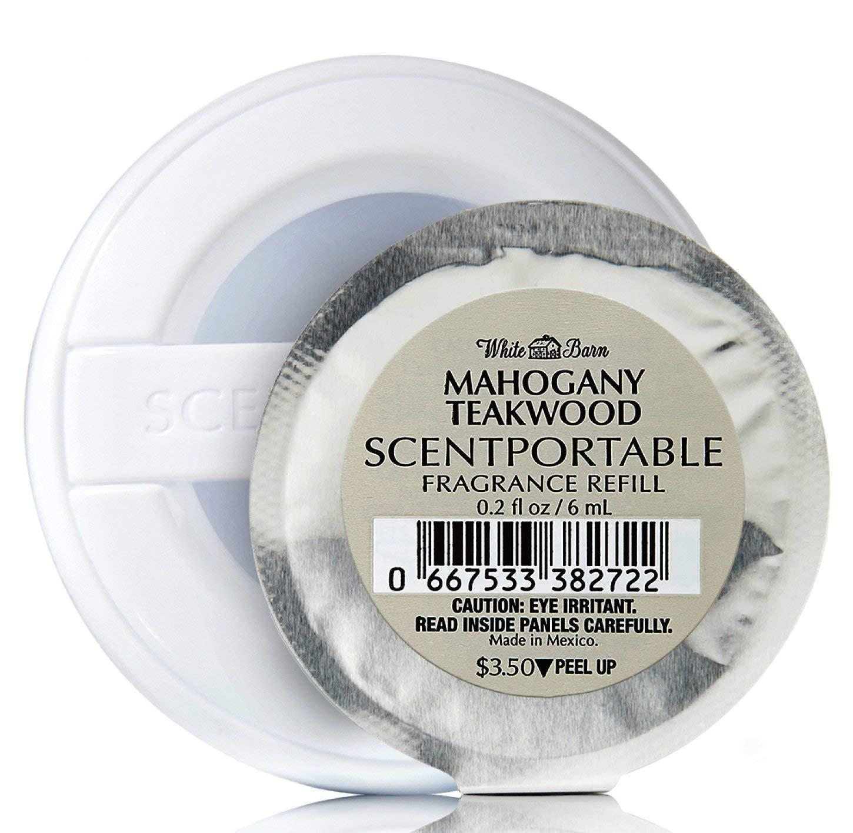 Bath & Body Works Mahogany Teakwood Scentportable Bundle of 4 Refill Discs