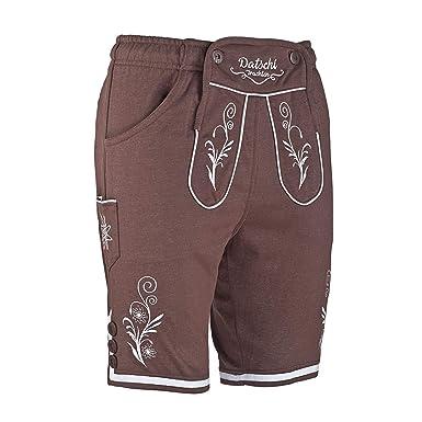 8400d1c80de4a7 Kurze Lederhosen Jogginghose Bestickt, 4X große Hosentaschen - flauschig  weich - Herren Trachten-Hose