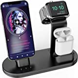 OLEBR 3 in 1 Charging Stand iwatch Stand, Charging Station Compatible with iWatch SE/6/5 /4/3 /2/1, AirPods Pro and iPhone Se