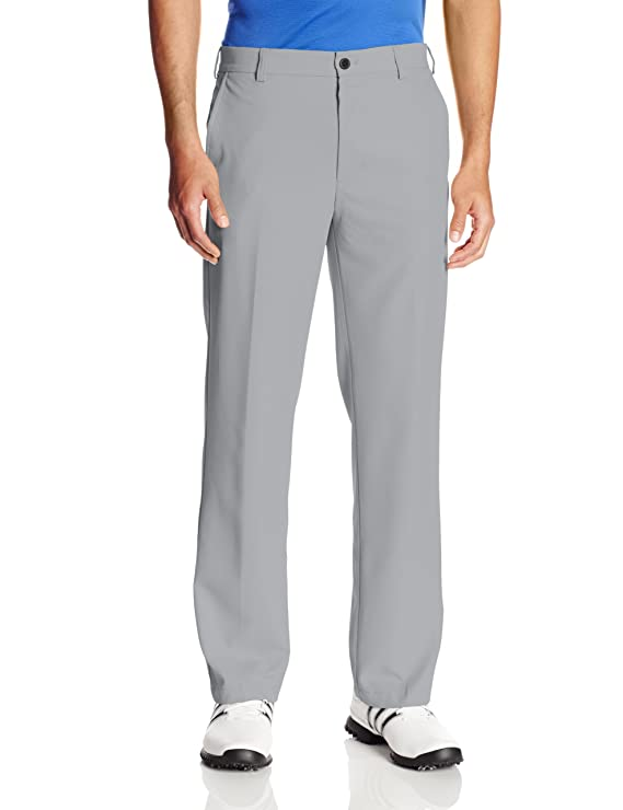 IZOD Men's Flat Front Traditional Slim Fit Basic Microtwill Golf Pant, Deep Silver Nickel, 36W x 30L best men's golf pants