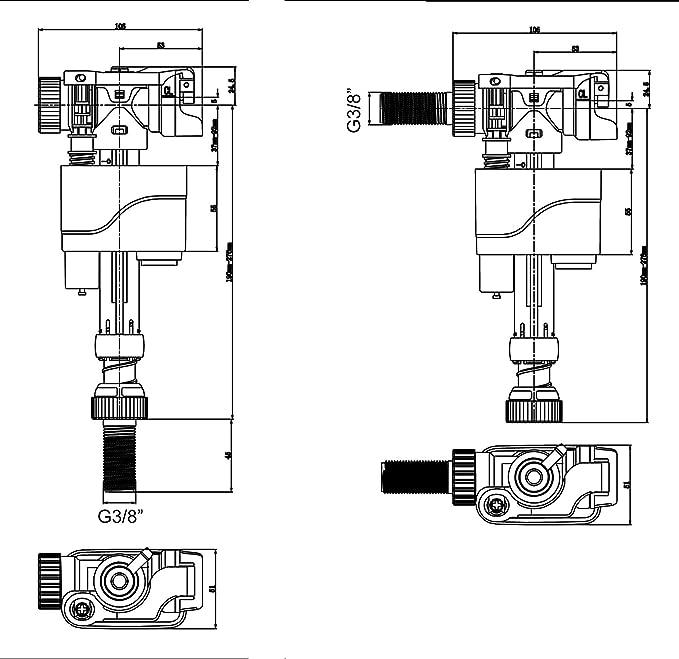 OXEN L332163 Mecanismo flotador universal para cisterna: Amazon.es: Bricolaje y herramientas