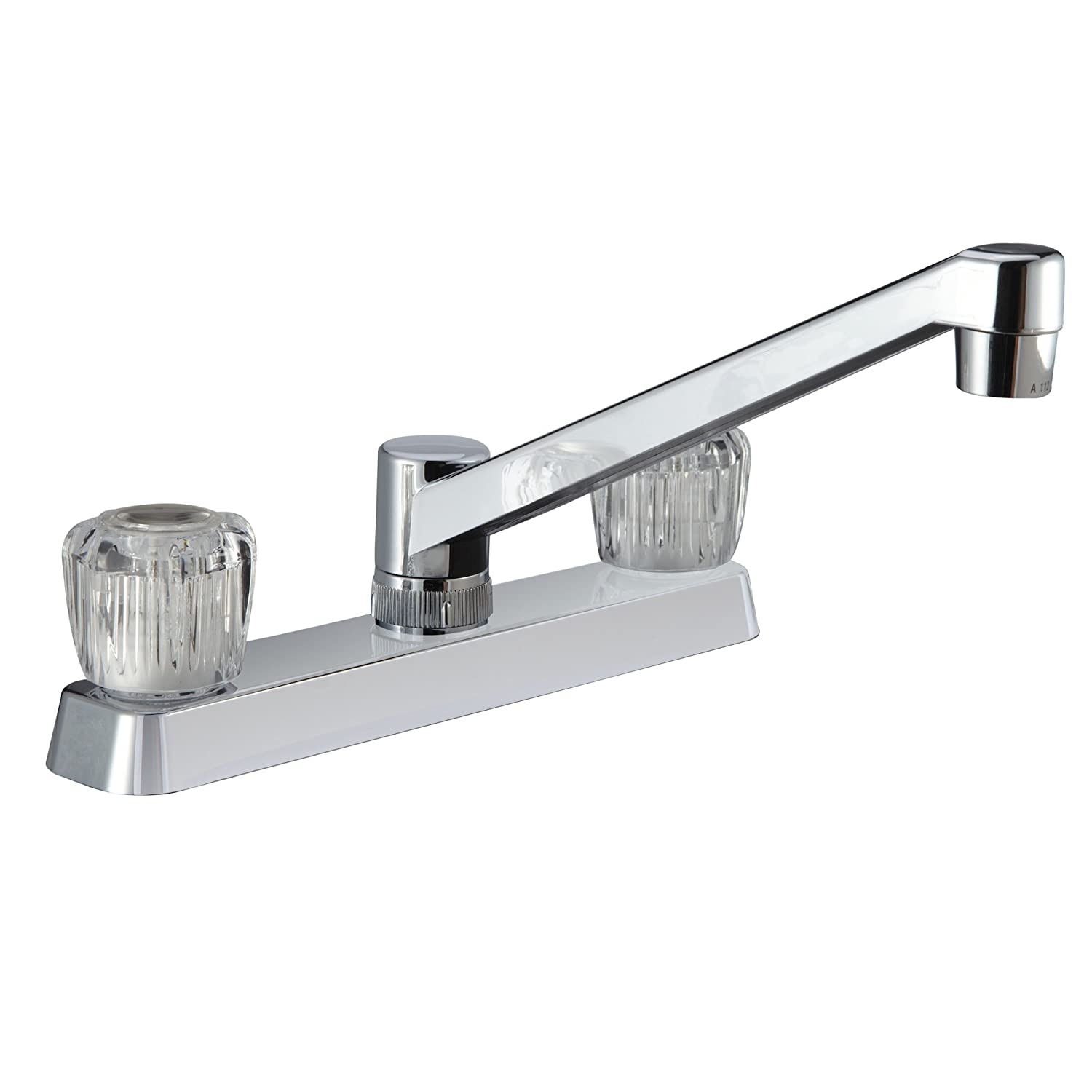Dura Faucet DF-PK600A-CP RV Kitchen Faucet with Crystal Acrylic Knobs Chrome