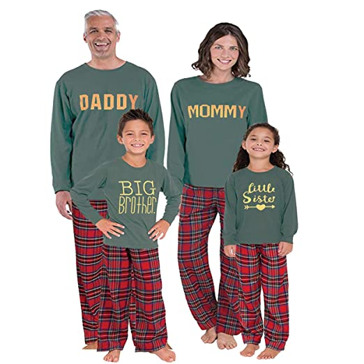 Argonv Christmas Family Pajamas Matching Sets Xmas Outfit Set Santa Clothing Sleepwear (Brother, 2