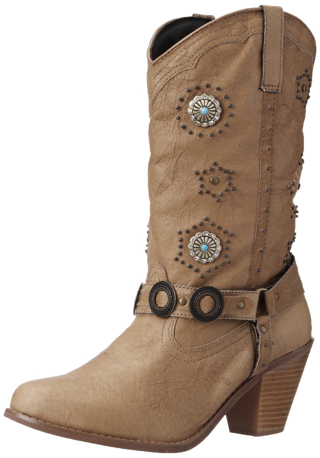 Dingo Women's Addie Boot,Chestnut,8.5 B US