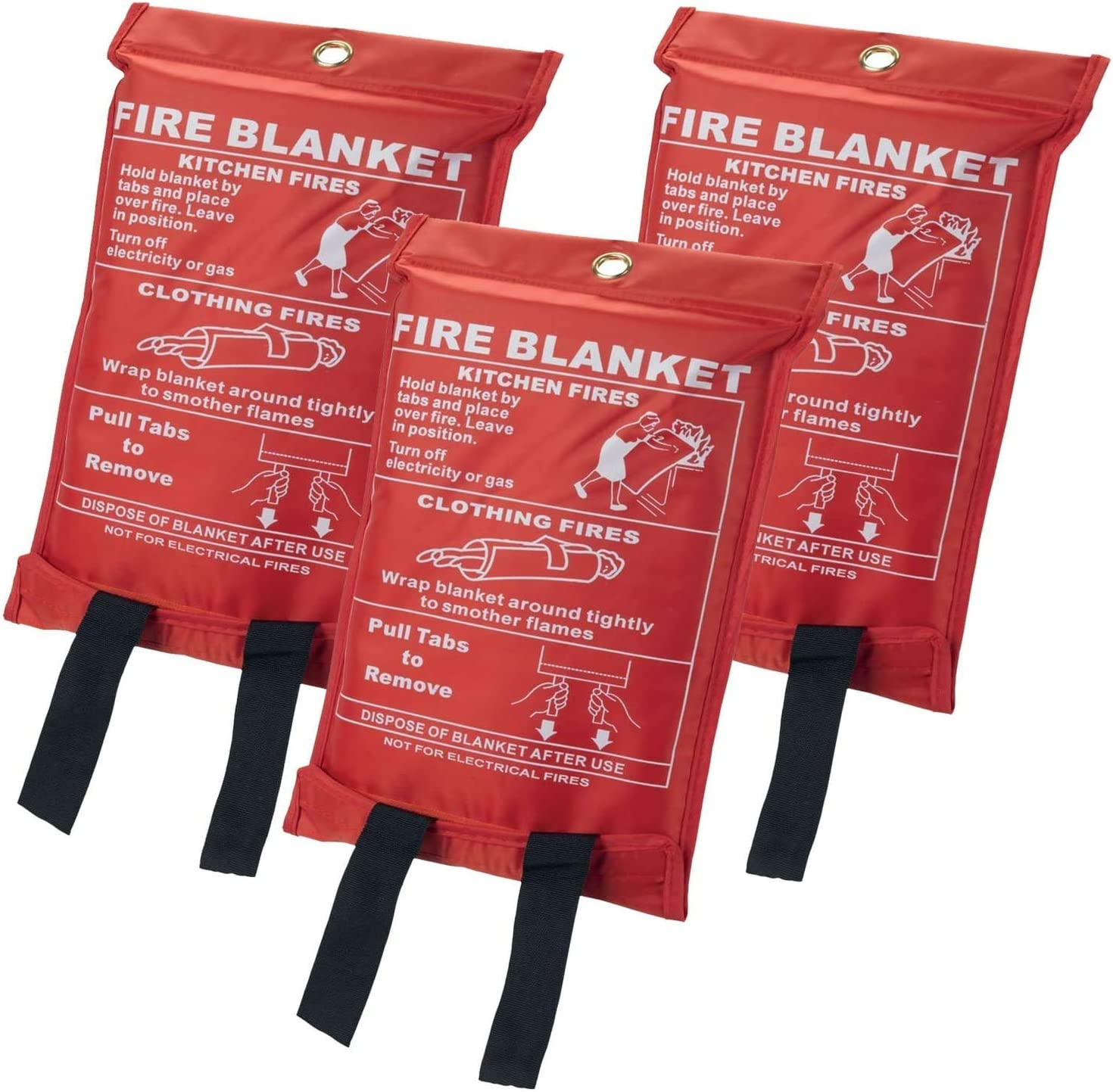 Easy To Use and To Deploy In Emergency Emergency Blanket Suppression Blanket Flame Retardant Ideal for Home//Office//Kitchen 1 1m x 1m Quick Release Safety Fire Blanket