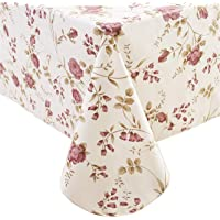 EffortLife Flannel Backed Vinyl Oilcloth Tablecloth Wipe Clean PVC Table Cover Oil-Proof/Waterproof Rectangle Plastic…
