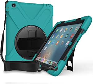 ProCase iPad 2 3 4 Case (Old Model), Rugged Heavy Duty Shockproof 360 Degree Rotatable Kickstand Protective Cover Case for Apple iPad 2/iPad 3/iPad 4 -Teal