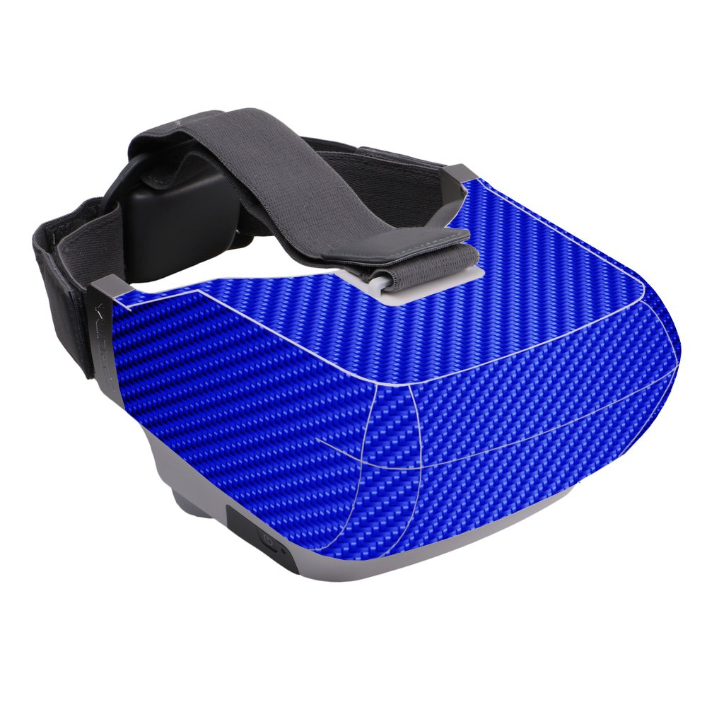 MightySkins Skin Compatible with Yuneec Skyview - Blue Carbon Fiber | Protective, Durable, and Unique Vinyl Decal wrap Cover | Easy to Apply, Remove, and Change Styles | Made in The USA