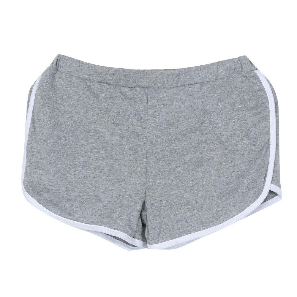 TRENDINAO Running Workout Shorts Women, New Summer Pants Women Sports Shorts Gym Waistband Skinny Yoga Short Gray