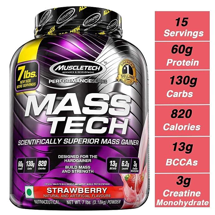 Muscletech 肌肉科技 增肌粉 草莓味 3.18kg 镇店之宝¥243
