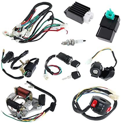 amazon com annpee full electrics coil cdi wiring harness loom kit Wiring Harness for Medicine annpee full electrics coil cdi wiring harness loom kit cdi coil magneto kick start engine for