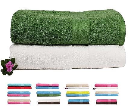 Trident 2 piezas Combo de 450 Gsm, toalla de baño (algodón), color