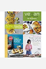 Skinnytaste cookbook, vegan cookbook for beginners, vegan street food [hardcover] and new vegan 4 books collection set Paperback
