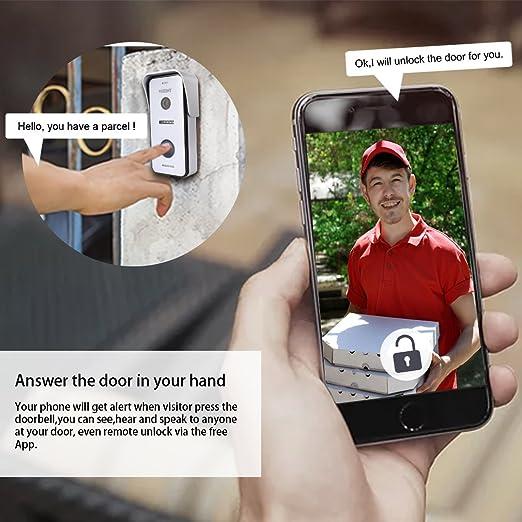 ... wifi IP inteligente Video puerta teléfono Timbre de la puerta Intercomunicador Sistema de entrada con 1x720P HD cámara Para la casa de 1 familia, ...