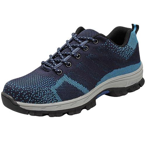 Wealsex Zapatillas De Seguridad para Hombre Mujer Antideslizante Ligeras Calzado De Trabajo para Comodas Tamaño 35-46: Amazon.es: Zapatos y complementos
