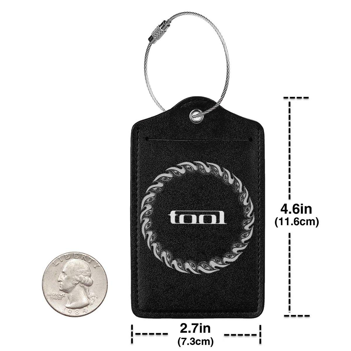 Tool Band Music Leather Luggage Tag Travel ID Label For Baggage Suitcase