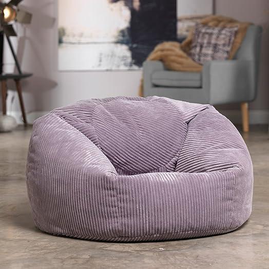 Luxury Jumbo Cord Bean Bag Snuggle Chair Giant Beanbag Lounger Seat In Plush Retro