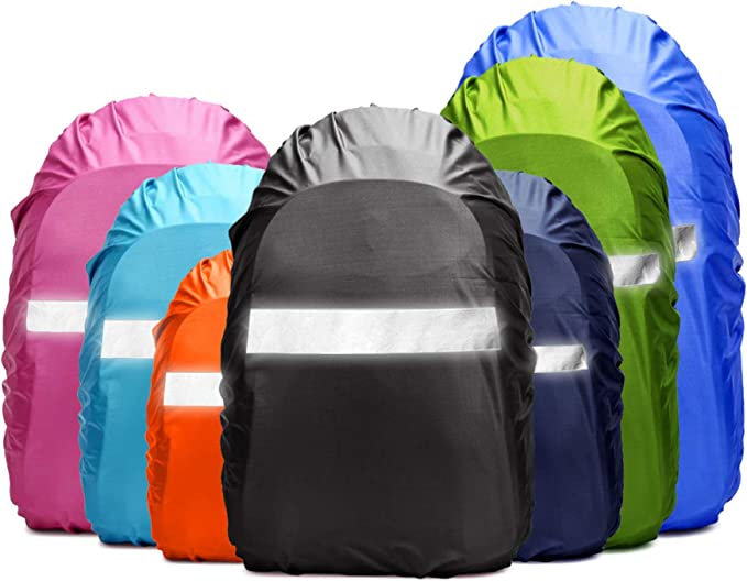 by Unbranded Waterproof Backpack Rain Cover with Reflective Strap etc. Hunting Rain Cycling Camping Upgraded 10-60L Non-Slip Rainproof Backpack Cover for Hiking