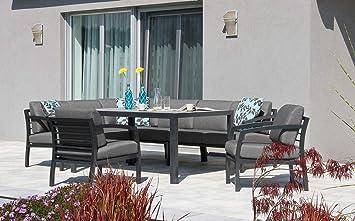 Aluminium Garten Sitzgruppe Essgruppe Mit Eckbank Tisch Und Sofas