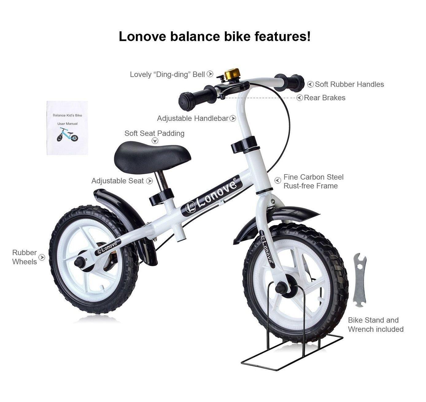 Child S 12 Balance Bike Rear Brake By Lonove No Pedal