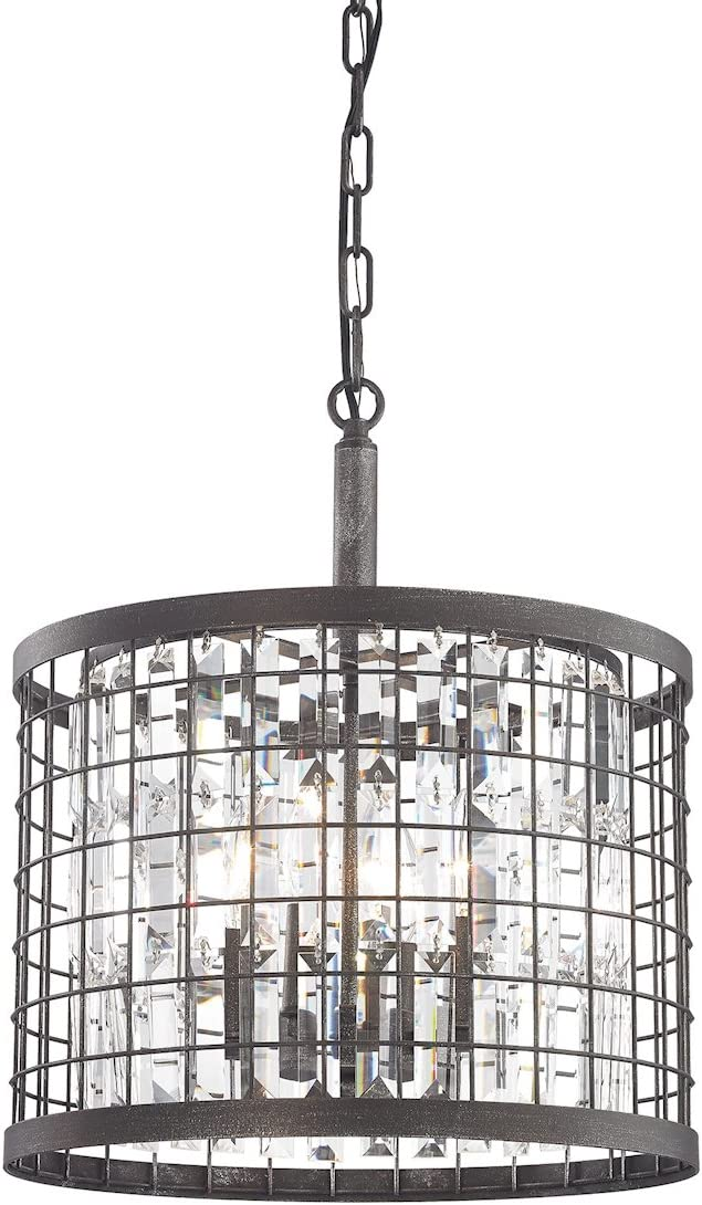 ELK Lighting 14342 4 Chandelier, One Size, Silver