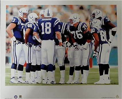 Indianapolis Colts Super Bowl XLI Champs Signed Cardboard Helmet 16 Autographs