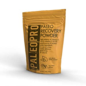 PaleoPro Paleo Recovery Powder Beverage Mix, All Natural, Gluten-Free, No Soy, No Whey, Keto Ingredients, High Potency Vitamin A, Rich in Vitamins C and B12, Sweet Potatoes, Egg White Protein, 1.1 lbs