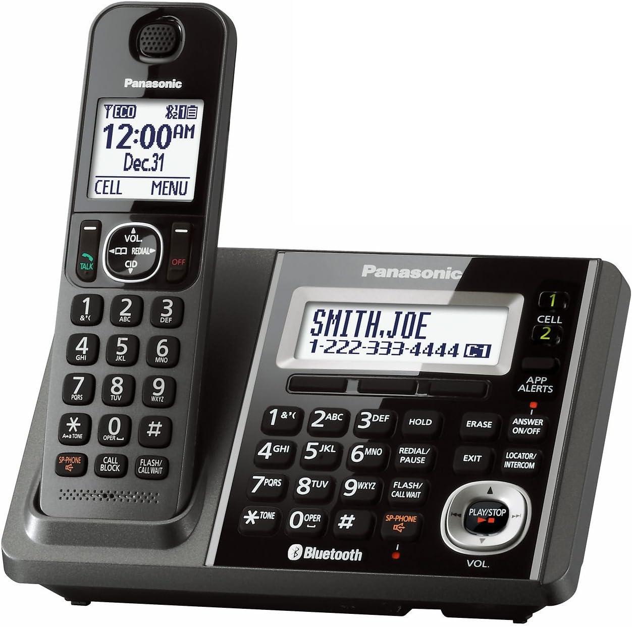 Panasonic kx-tgf370 m DECT 6.0 1-handset teléfono Fijo (Certificado Reformado) (Unidad Base para kx-tg585sk): Amazon.es: Electrónica
