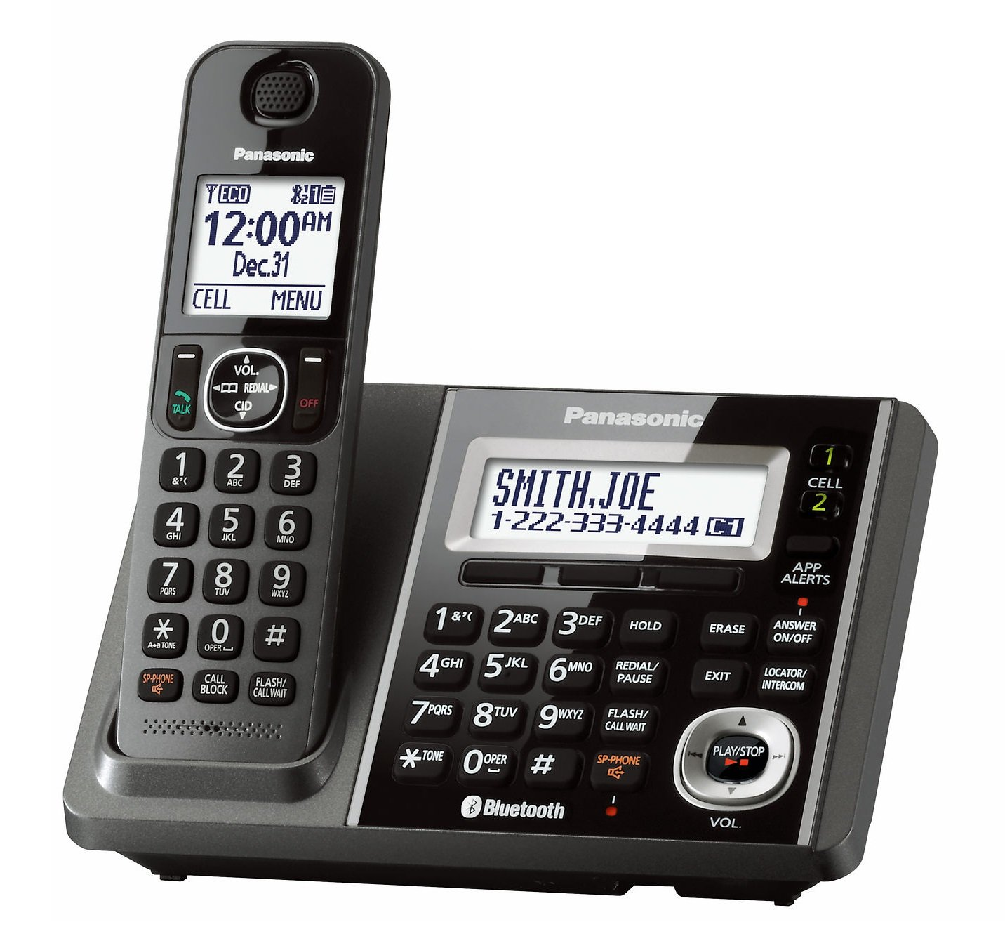 Panasonic KX-TGF370M DECT 6.0 1-Handset Landline Telephone (Certified Refurbished) (base unit for KX-TG585SK)