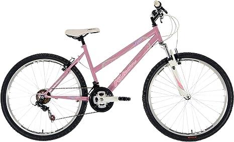 Falcon Vienne - Bicicleta de montaña para mujer, talla M (43,2 x 66 cm) 12+ años, color Blanco / Rosado: Amazon.es: Deportes y aire libre