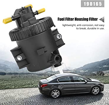 Cárter del Filtro de Combustible, Cárter del Filtro de Combustible y Filtro para 206 306 307 2.0 HDi: Amazon.es: Coche y moto