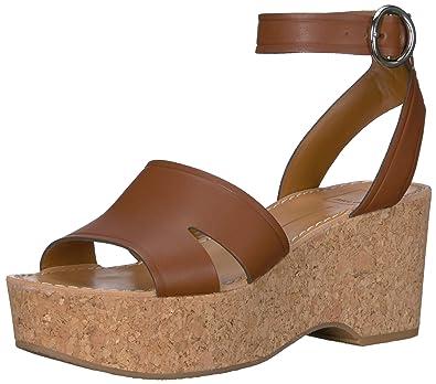 f09f55ef9a Dolce Vita Women's Linda Wedge Sandal brown leather 5 ...