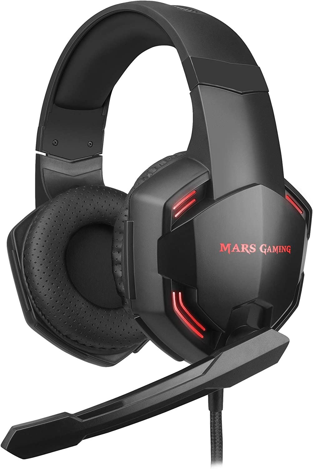 Mars Gaming MHXPRO71, Cascos Gaming 7.1 + Micro, superBASS, PC/PS4/PS5/SWITCH
