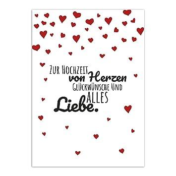 Gluckwunschkarte Zur Hochzeit Motiv Wunderbarer Spruch Mit Herzen