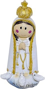 Nossa Senhora De Fatima Desenho 10cm Enfeite Resina Amazon Com