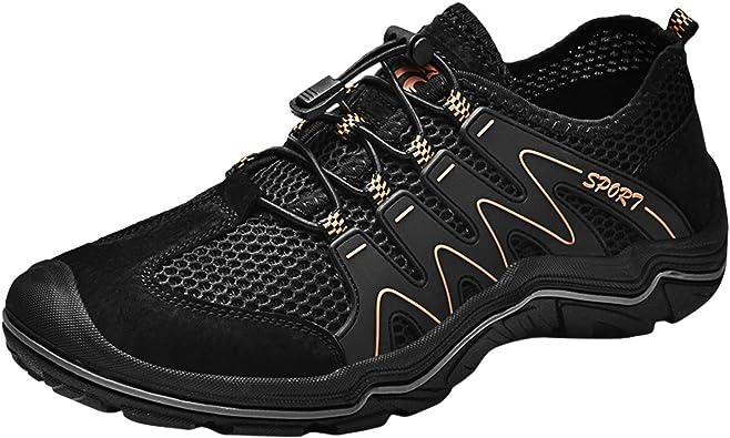 Hombres de Deportivas Al Aire Libre Acuático Cámping Agua Zapatos Malla Respirable Slip on Antideslizante Alpinismo Transpirables de Escalada ...