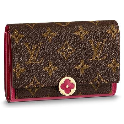 3f944b29b3e8 ルイヴィトン LOUIS VUITTON 財布 二つ折り財布 レディース ポルトフォイユ・フロール コンパクト モノグラム・フューシャ