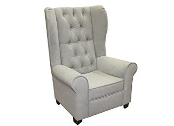 Amazon.com: newco Kids Mirage terciopelo silla, gris: Baby