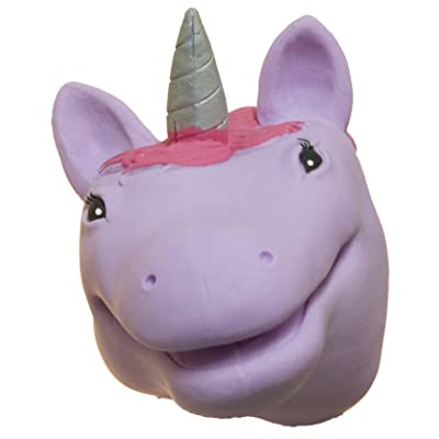 Wii Soft Rubber Realistic 6 Inch Unicorn Hand Puppet (Purple): Toys & Games