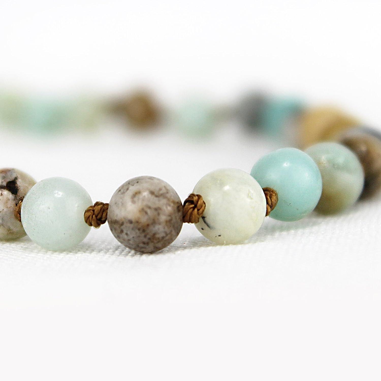 Natural Gemstone Beaded Choker Necklace for Teen Girls POMINA Semi Precious Stone Beaded Short Choker Necklace for Women