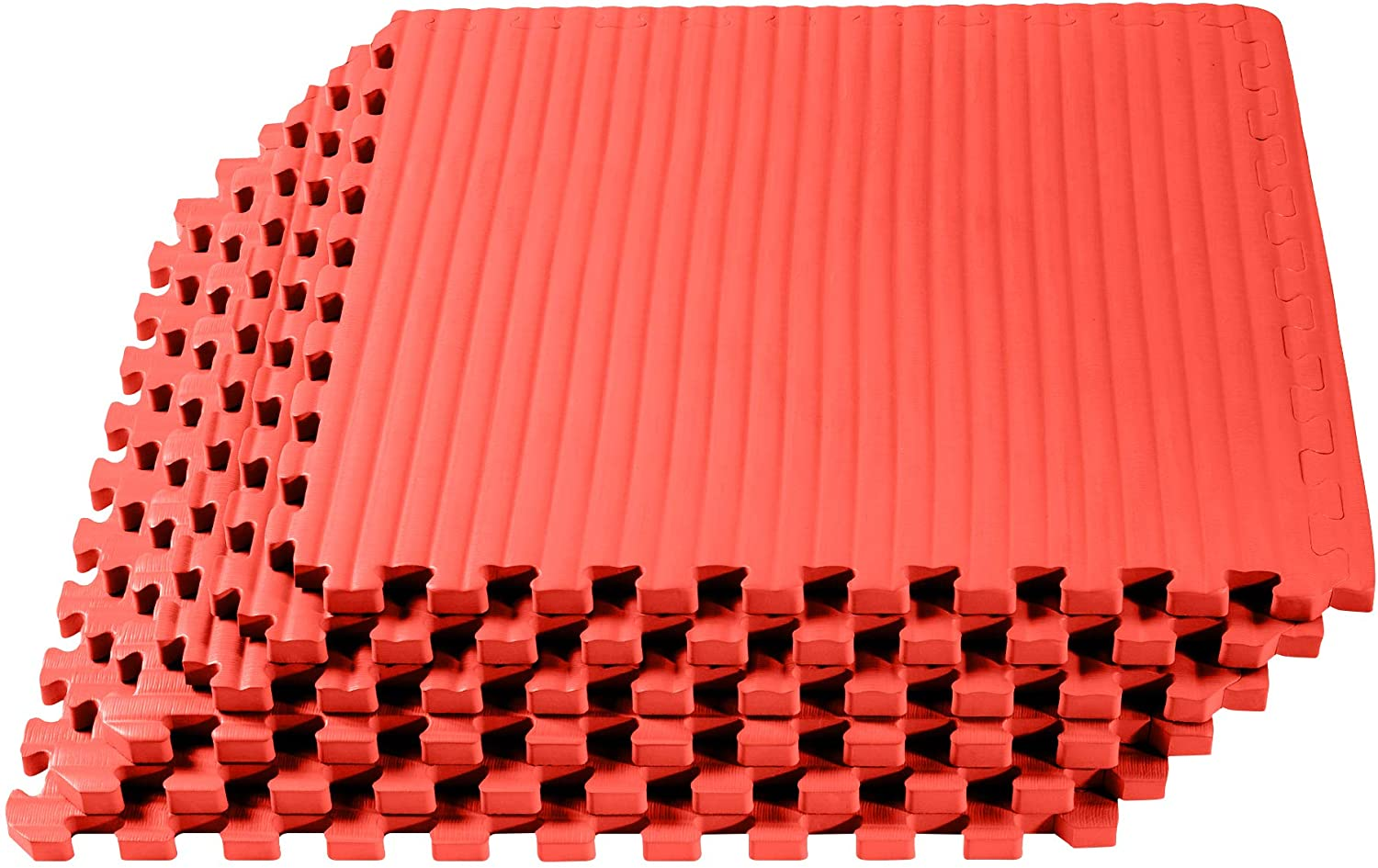 We Sell Mats 3/4 Inch Thick Martial Arts EVA Foam Exercise Mat, Tatami Pattern, Interlocking Floor Tiles for Home Gym, MMA, Anti-Fatigue Mats, 24 in x 24 in