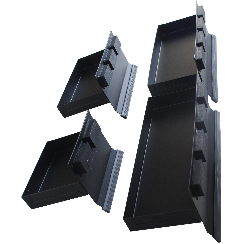 CCLIFE 4 piezas juego de estante magnetico bandejas magn/éticas 150-210-270-310mm